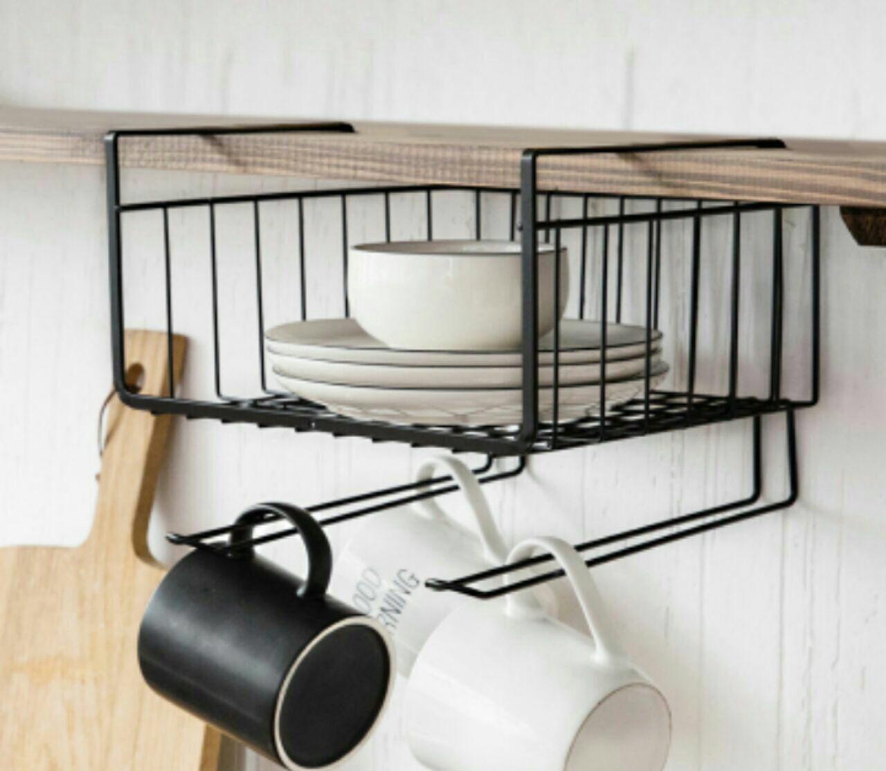 خرید اورگنایزر آویز استیل زیر کابینتی آشپزخانه آویز دار 2020