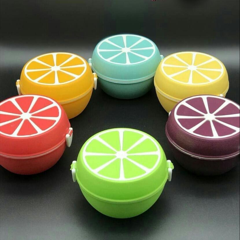 خرید پستی  ظرف غذای سه تکه طرح پرتغال 2عدد