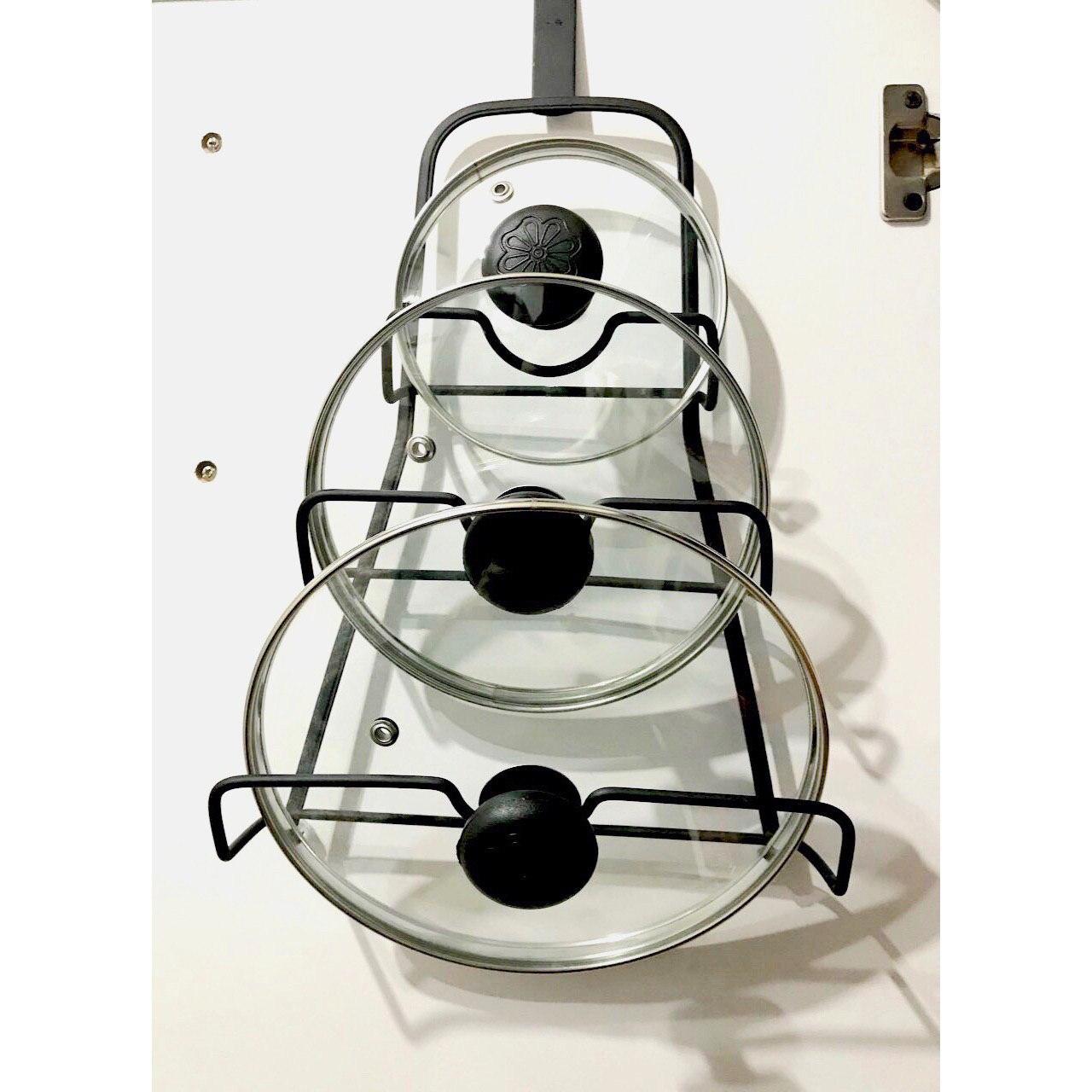 خرید پستی  استند نگهدارنده درب قابلمه 3طبقه کابینتی