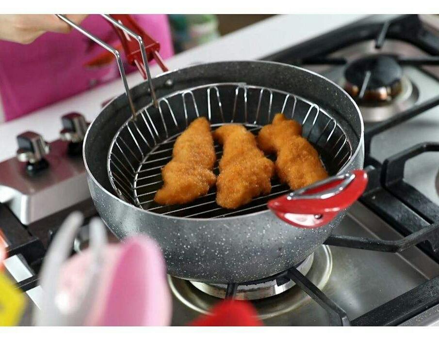 خرید پستی  تابه ی وک بزرگ چندکاره 5 پارچه