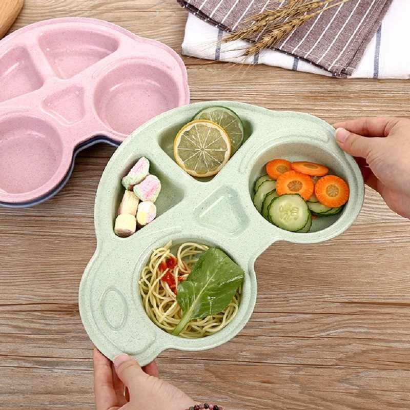 خرید پستی  بشقاب غذای کودک گیاهی طرح ماشین
