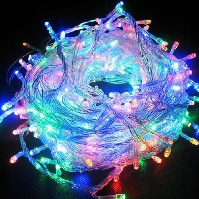 خرید ریسه ی برقی ۱۰ متری ال ای دی نورانی چراغ دار