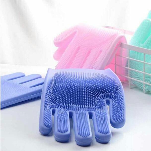 خرید دستکش ظرفشویی اسکاچ دار سیلیکونی ظرف شویی
