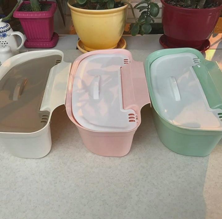 خرید پستی  سطل زباله کابینتی درب دار 2عددی