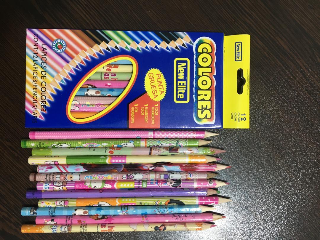 خرید ارزان قیمت جعبه مداد رنگی مقوایی