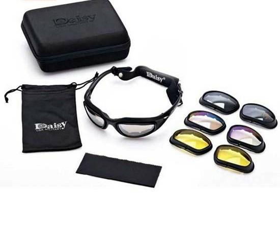 خرید ارزان قمیت عینک ورزشی کوهنوردی 4 لنز مختلف