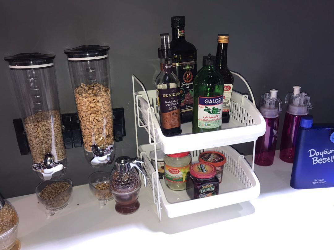 خرید ارگنایزر دوطبقه رومیزی آشپزخانه