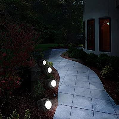 خرید پستی  چراغهای خورشیدی تزیینی طرح سنگ