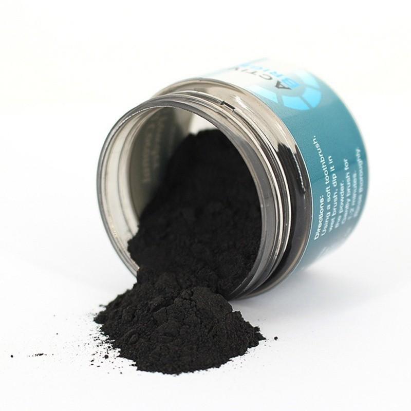 خرید پودر زغال فعال نارگیل مخصوص سفیدی و ازبین بردن لک دندان