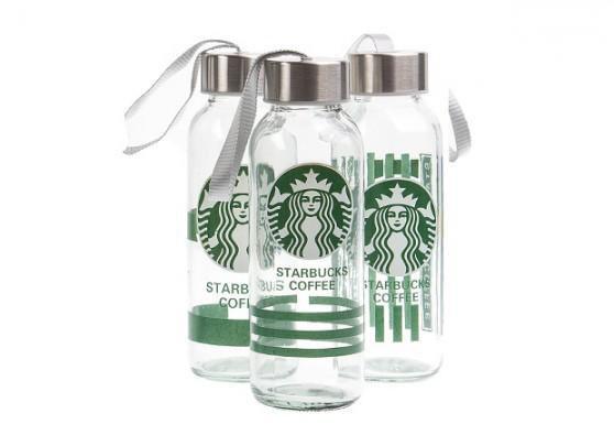 خرید بطری شیشه ای شفاف استارباکس بدون نشتی