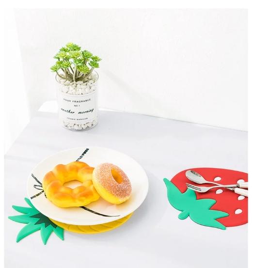 خرید پد زیر قابلمه ای سیلیکونی رنگی فانتزی میوه ای