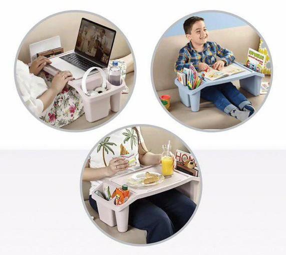 میز چندکاره پلاستیکی مصخوص غذا خوردن مطالعه و لپ تاپ