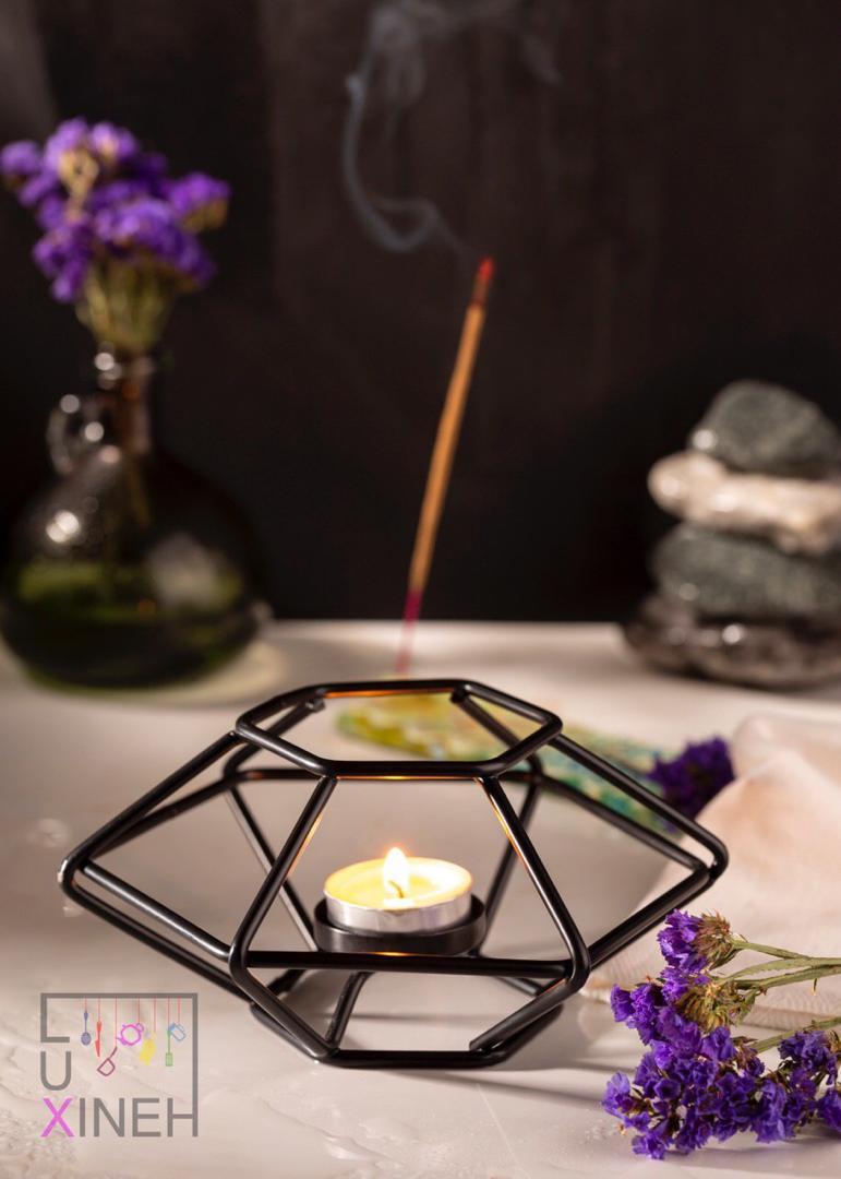 خرید اینترنتی استند وارمر شش ضلعی شمع