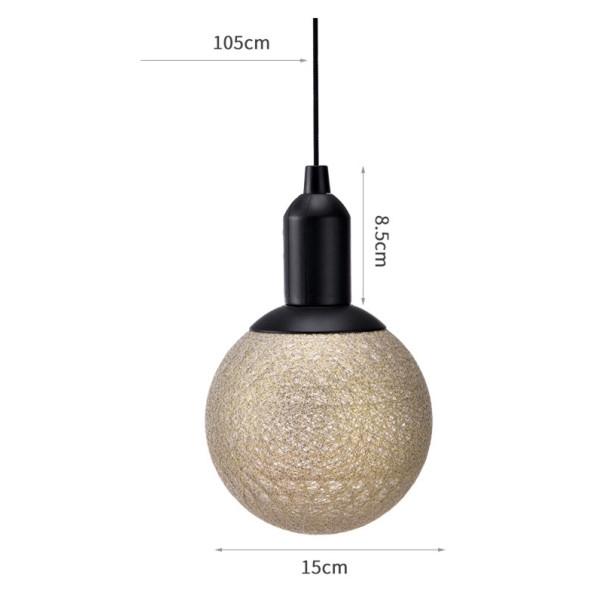 خرید لامپ های توپی رنگی دکوراتیو با روکش کتان