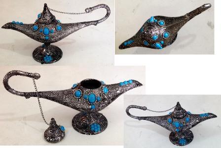 خرید چراغ دکوری تزئینی جادویی فیروزه