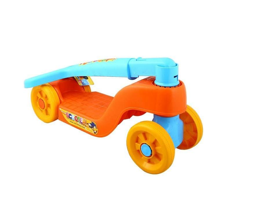 خرید اینترنتی اسکوتر بازی کودکانه بچه گانه چهار چرخ پلاستیکی ارزان