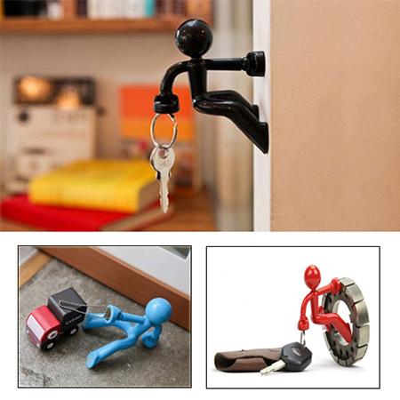 خرید جا کلیدی آدمکی در رنگهای مختلف 3عدد