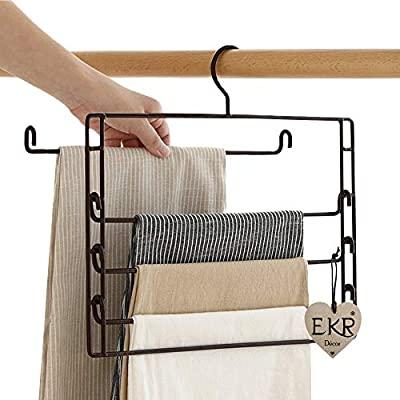 رخت آویز جا لباسی حوله ای 5 پنج طبقه استیل مشکی