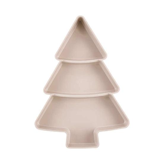 خرید ظرف سرو انواع تنقلات طرح کاج مثلثی سفید