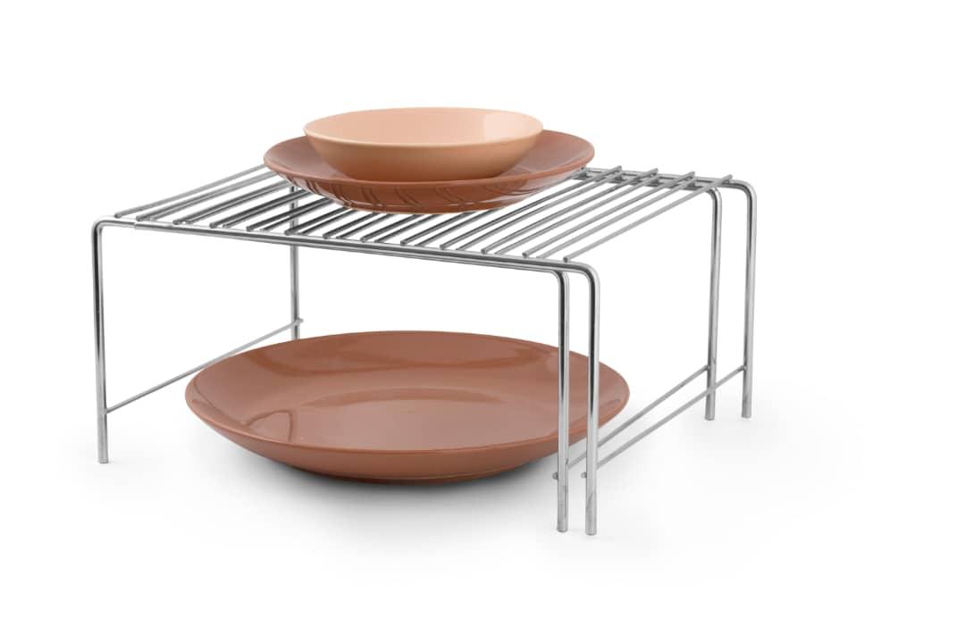 خرید راف فلزی داخل کابینت کمد با عرض متغیر کشویی